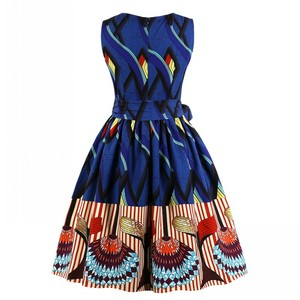 Image 2 - Aovica S 4XL Plus Size Women African clothing Dress Sleeveless Summer Dashiki Dresses vestidos de fiesta
