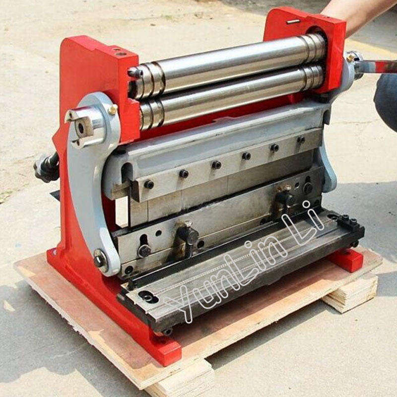 Manual Sheet / Plate Rolling Machine Board Shearing Machine Iron Aluminum Plate Bending Machine Three-in-one Tools HSBR-305 diy small manual bending machine folding machine iron sheet metal bending plate bending machine 1pc