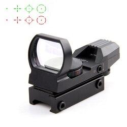 Горячая 20 мм рельсовый прицел охотничья оптика голографическая красная точка зрения рефлекс 4 сетка тактический прицел охотничья пушка акс...