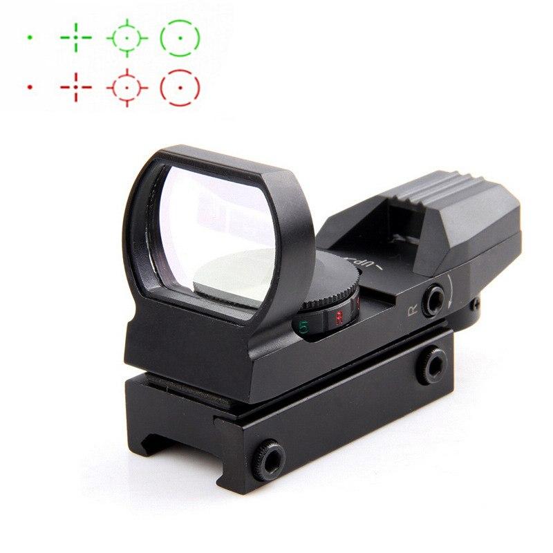 Caliente 20mm Riflescope óptica de caza Holographic Red Dot Sight Reflex 4 reticulo táctico alcance caza arma Accesorios