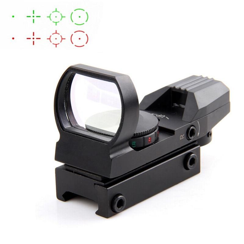 Heißer 20mm Schiene Zielfernrohr Jagd Optik Holographic Red Dot Sight Reflex 4 Absehen Tactical Scope Jagd Gun Zubehör
