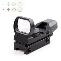 Hot 20mm Rail Riflescope Hunting Optics Holographic Red Dot Sight Reflex 4 Reticle Tactical Scope Hunting