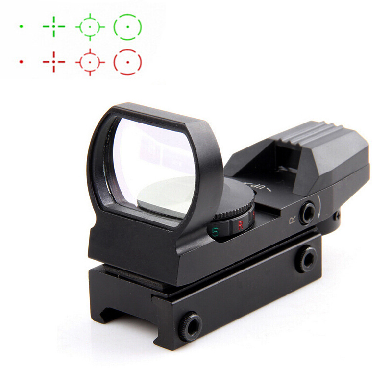 Hot 20mm Rail Riflescope Hunting Optics Holographic Red Dot Sight Reflex 4 Reticle Tactical Scope Hunting Gun Accessories tactical 3 9x40 3 in 1 red dot reflex riflescope with 20mm dovetail red laser optics sniper scope sight for hunting