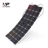 ALLPOWERS 100 Вт 18 в 12 В Солнечная Панель зарядное устройство воды/шок/пыли солнечное зарядное устройство для RV, лодка, кабина, палатка