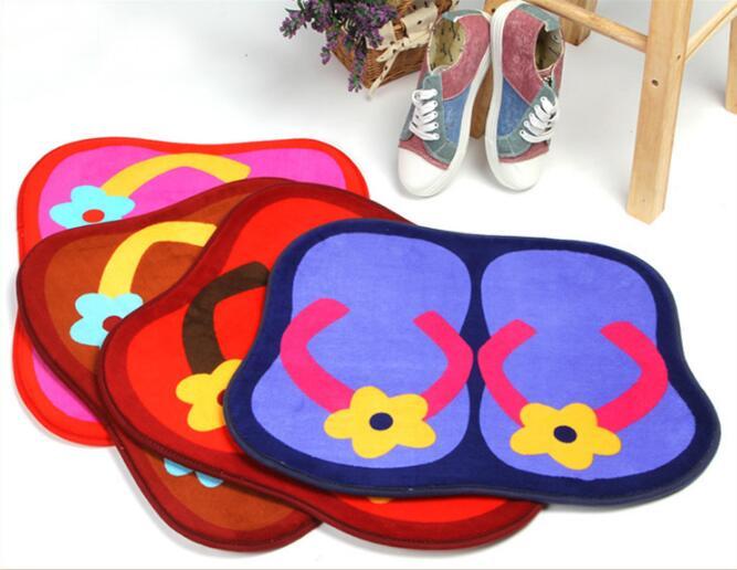1pc New Flip Flop Floor Mats Bedroom Carpet Door Ground Bath Household Rug Living Room Home Textile Blanket Ly 002 In From Garden On