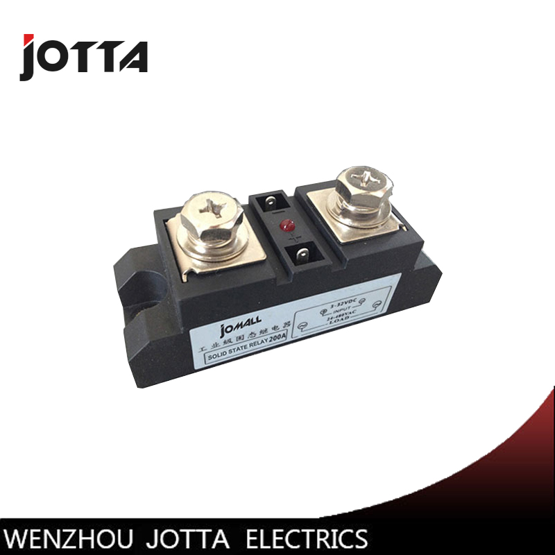 250A Industrial SSR Single-phase Solid State Relay Input 4-32VDC Output 24-680AC
