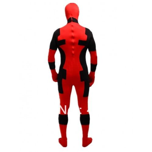 Deadpool kostiumai raudoni ir juodi deadpool kostiumai Helovinas - Karnavaliniai kostiumai - Nuotrauka 4