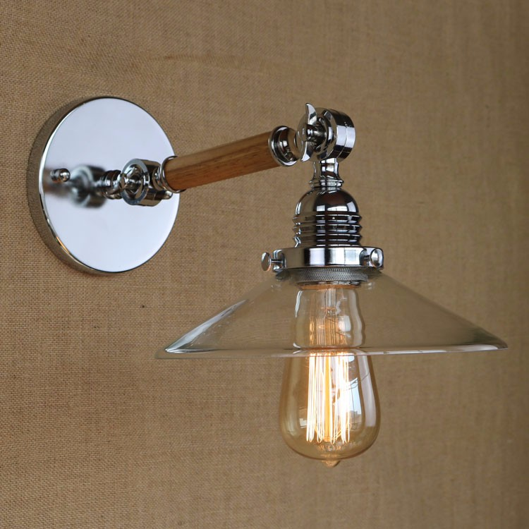 Wooden LED Vintage Wall Lamp Lights Fixtures For Home In Loft Industrial Lighting Edison Wall Sconce Arandela Apliques Pared цена