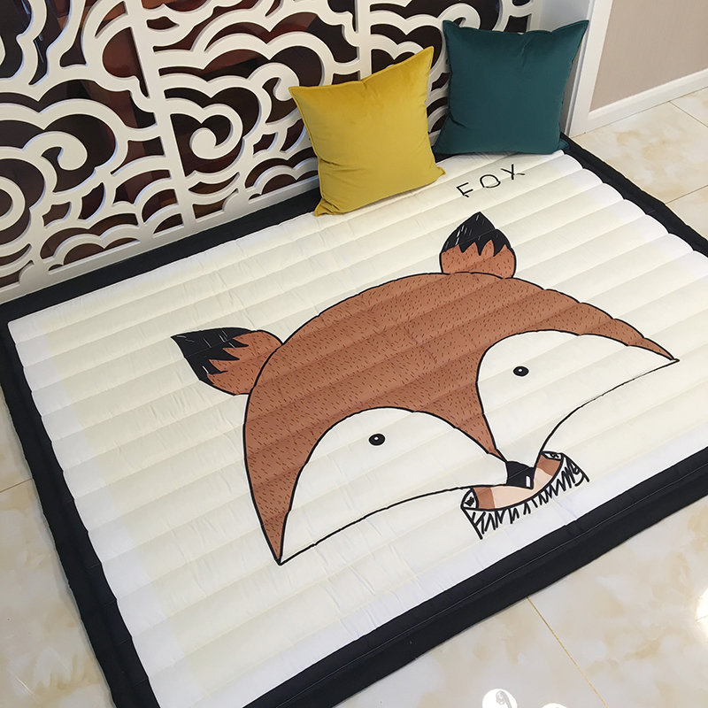 Infant Shining Simple Pattern Baby Play Mats Kids Crawling Carpet Cotton 2.5CM Thick Soft Mat No Smell Safe Blanket Rug