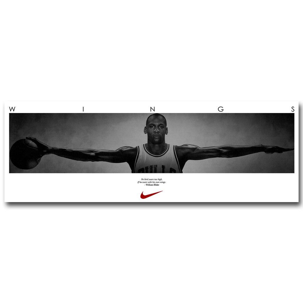 Michael Jordan Flügel Art Silk Stoff Plakat-druck 13x38 20x58 zoll ...