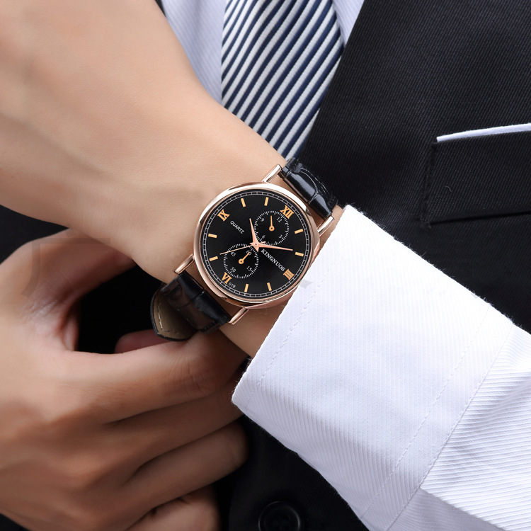 KINGNUOS New Quartz Watch Men Luxury Brand Famous 2018 Casual Wrist Watches Male Clock Hodinky Montre Homme Relogio Masculino new luxury men watch roman numbers stainless steel quartz wrist watch male clock mens watches relogio masculino 2018