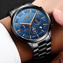 купить LIGE Watch Men Fashion Sports Quartz Clock Mens Watches Top Brand Luxury Moon phase Business Waterproof Watch Relogio Masculino по цене 1692.76 рублей