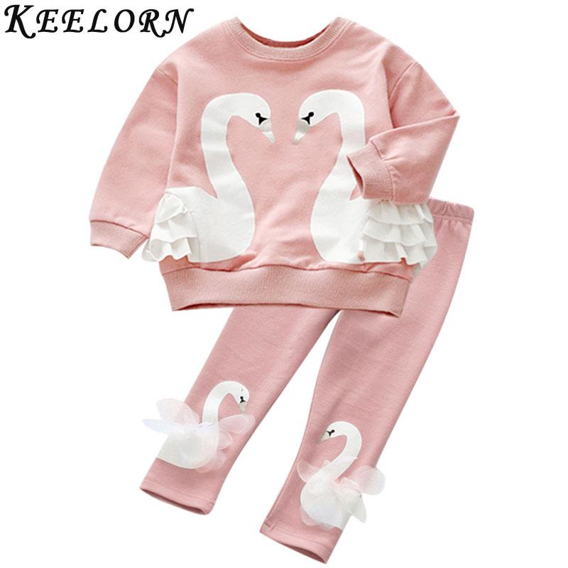 ef43e04cb245 Keelorn Κορίτσια Σετ Ρούχων 2019 Φορέματα Ένδυσης Παιδικά Ρούχα ...