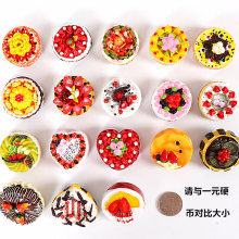 (6 pieces/ lot) Creative simulation fancy cake resin Refrigerator