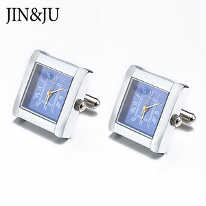 Image 2 - High Quality Functional Watch Cufflinks Square Real Clock Cuff links With Battery Digital Watch Cufflink cuffs Relojes gemelos