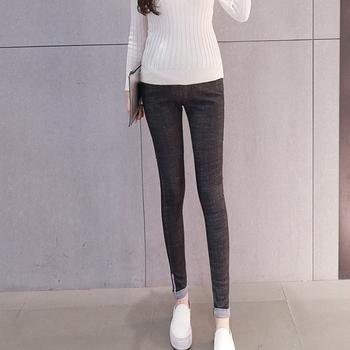 Nowa oferta specjalna elastyczna bawełna jeansy ciążowe spodnie dla kobiet w ciąży ubrania w ciąży spodnie jesień zima 2019 Plus rozmiar tanie i dobre opinie Gezmiajina COTTON Macierzyństwo WOMEN Sukno Naturalny kolor skinny MANKIETY Jeans trousers Korean pants Spring autumn winter