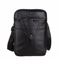 New Real Genuine Leather Men Business Messenger Bag Fashion Designer Small Male Cross Body Satchel Cowhide