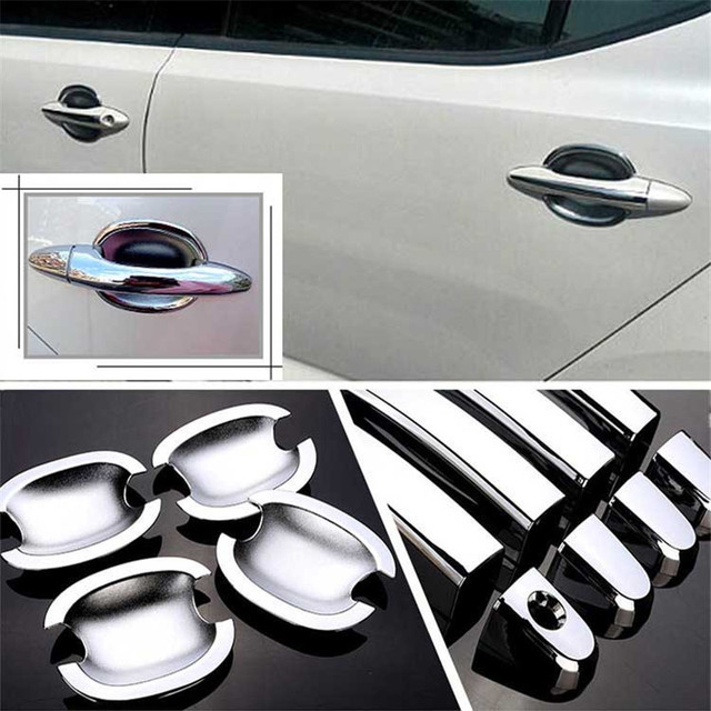 $ 28.19 Non-Rusty Chrome Door Handle Bowl Cover Cup Overlay Trim For KIA K5 2011-2015