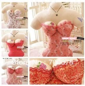 Free shipping 5350cm women body plush toy wedding gift cushion