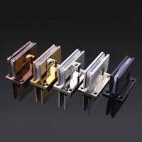 2PCS 90 Degree 5Color for Choose Stainless Steel Hinges Wall to Glass Bathroom Shower Door Hinge Wall Mount 8 10mm JF1879