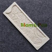 Mom Pea MPB0042 Pearl Border Shaped Silicone Mold Cake Decoration Fondant Cake 3D Mold Food Grade