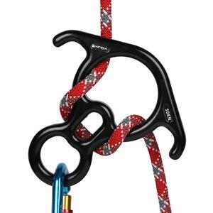 Image 3 - Xinda Rock Klimmen Descender Ox Hoorn 8 Dalen Ring Downhill Acht Ring Met Gebogen Oor Abseilen Gear Zekeringsapparaat apparatuur