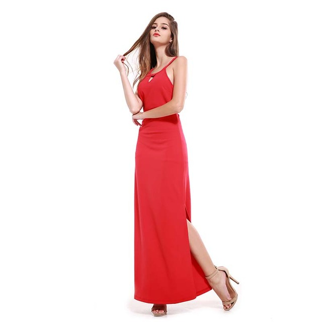 2017 summer women party lacing red sexy long dress vestidos