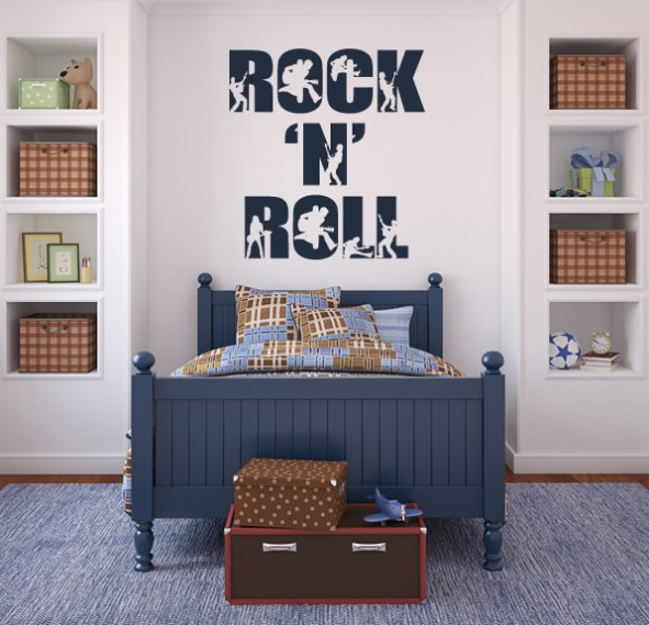 Online Shop Free Shipping Home Decor Music Rock N Roll Wall Art Decals Wall Stickers Aliexpress Mobile