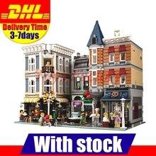 In Stock 2017 LEPIN 15019 4002pcs Assembly Square City Series Model Building Kits Blocks Bricks Clone 10255