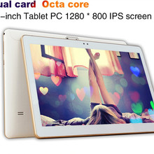 2018 New 10 inch Tablet PC Octa Core 4GB RAM 64GB ROM Dual SIM Cards 3G WCDMA Android 7.0 GPS Tablet PC 10 10.1 +Gifts