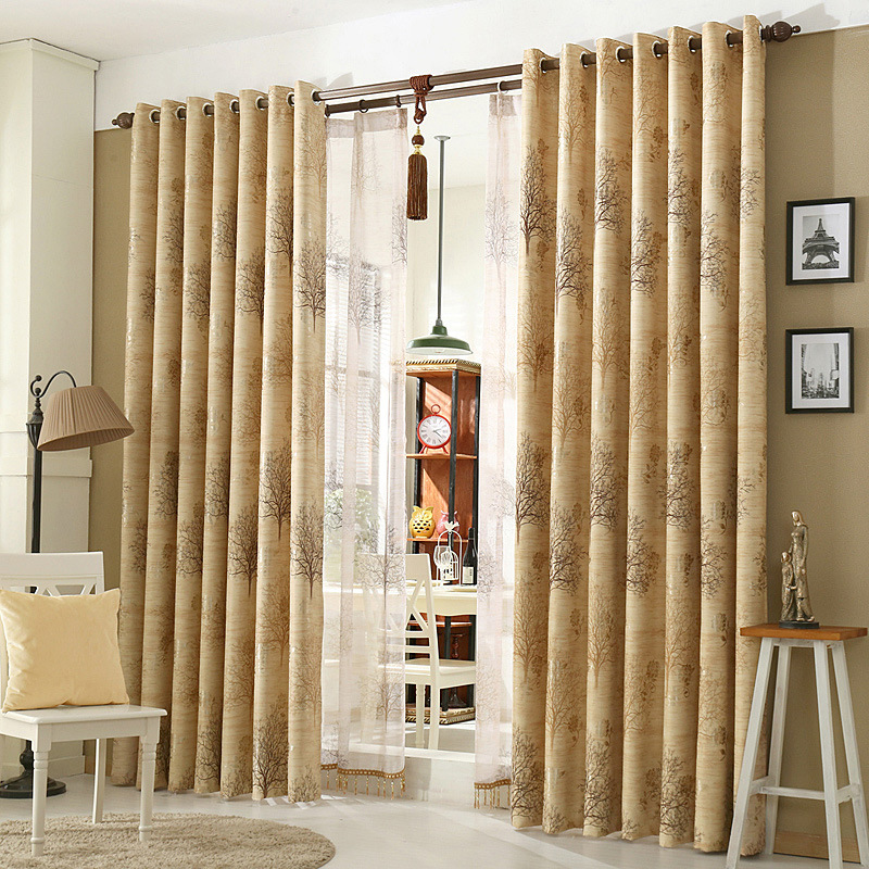[byetee] Modern Blackout Window Curtain Finished Custom Kitchen Curtains  Drapes For Living Room Luxury
