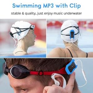 Image 2 - גבוהה באיכות Mp3 נגן 4GB IPX8 עמיד למים שחייה MP3 לקיץ צלילה חיצוני ספורט FM רדיו מוסיקה נגן עם אוזניות