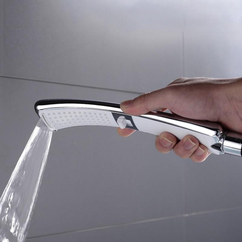 Водопад, 2 функции, ручная душевая головка, высокое давление, дождевой Душ, опрыскиватель, набор, экономия воды, дизайн