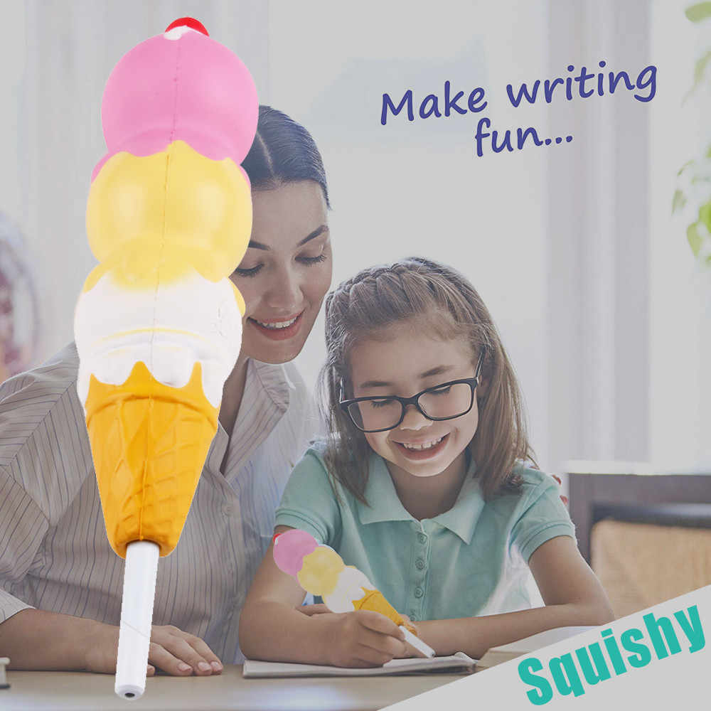 2019 Squishies Ice Cream Slow Rising Pencil Toppers Grip Scented Stress Relief Toy squishy smooshy mushy toys for children