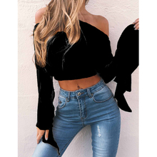 New Women Fashion Sexy Off Shoulder Dress Striped One Shoulder Shirt Casual Loose T-shirts Sexy Streetwear 2018 Hot Sale
