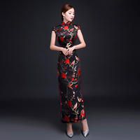 Mandarin Collar Female Large Size 3XL Chinese Dress Qipao Sexy Exquisite Tight Formal Party Dresses Suzhou Embroidery Cheongsam
