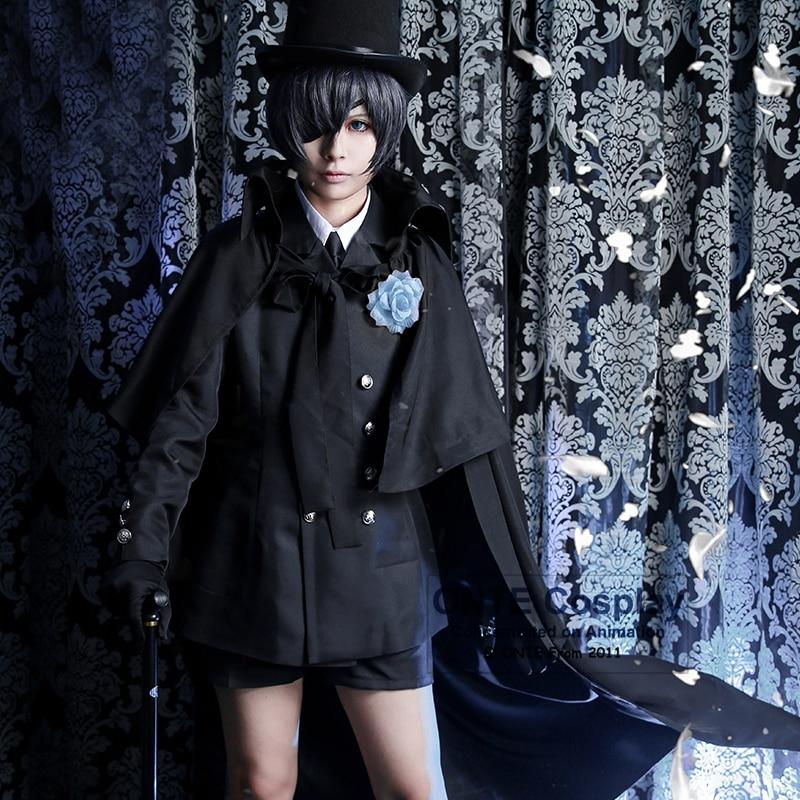 14 Part in 1 set Anime Black Butler Ciel Phantomhive Funeral Cosplay Cotumes Halloween Men Fancy