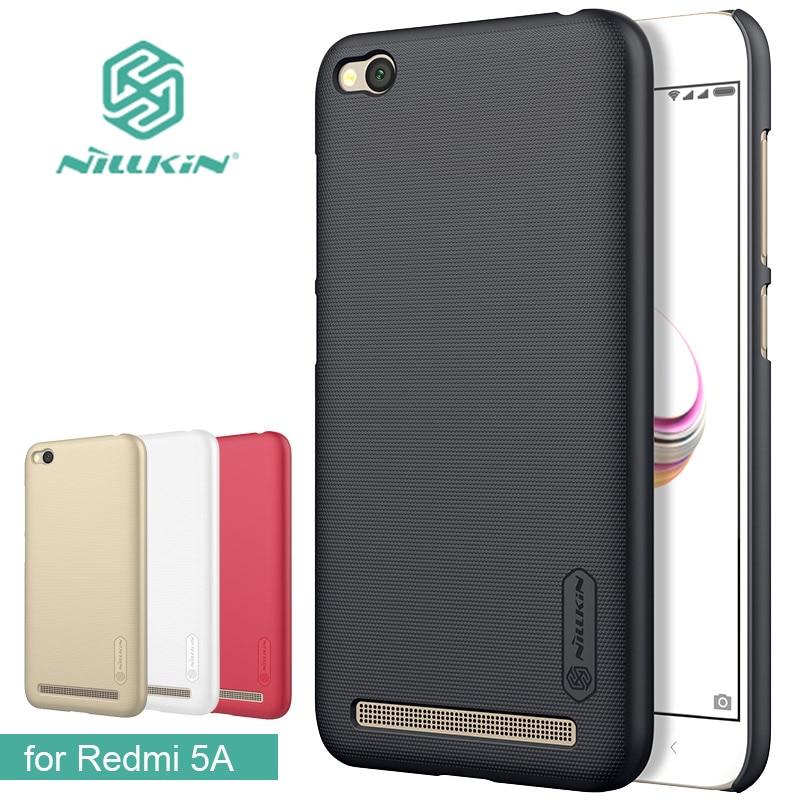 Pour Xiaomi Redmi 5A Cas Nillkin Super Givré Bouclier Dur Retour PC Cas de Couverture pour Redmi 5A Mat Cas de Téléphone + Écran protecteur