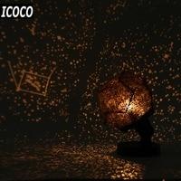 ICOCO Home Decor Romantic Astro Star Sky Projection Cosmos Night Lamp Starry Night Romantic Bedroom Decoration