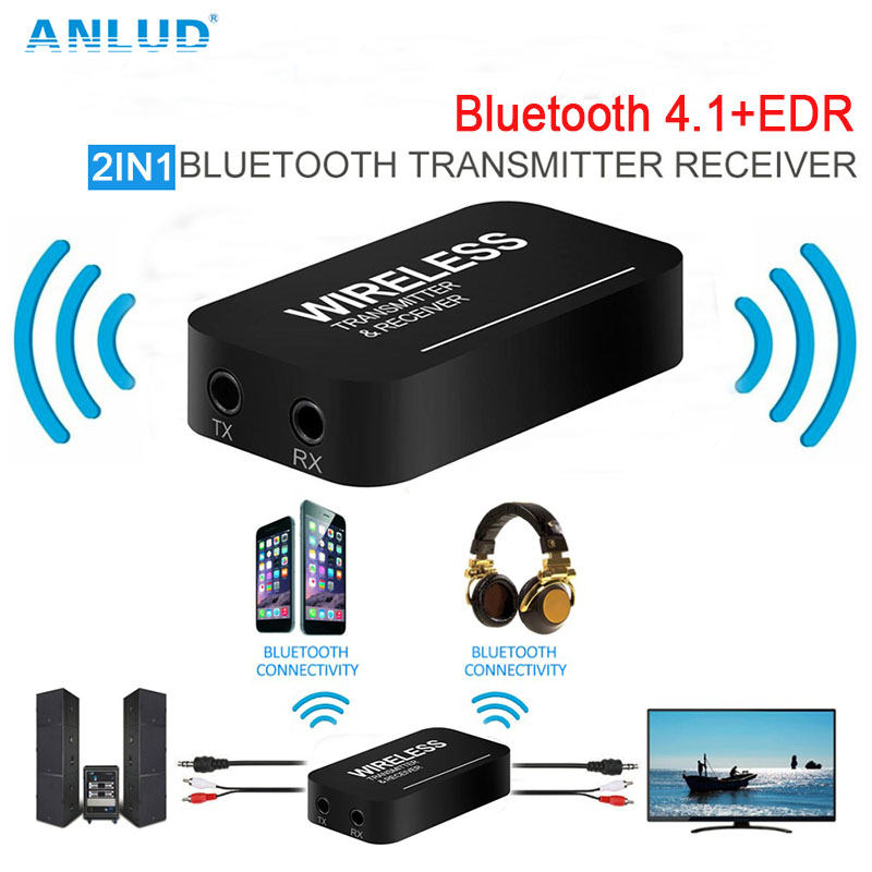 ANLUD Bluetooth Transmitter Receiver Adapter 2IN1 3 5 font b Car b font TV Transmissor font