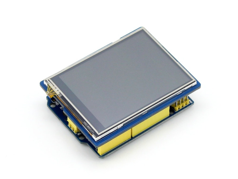 цена на Waveshare 2.8inch TFT Touch Shield LCD Resistive touch screen 320*240 Display for Arduino UNO Leonardo UNO PLUS NUCLEO XNUCLEO