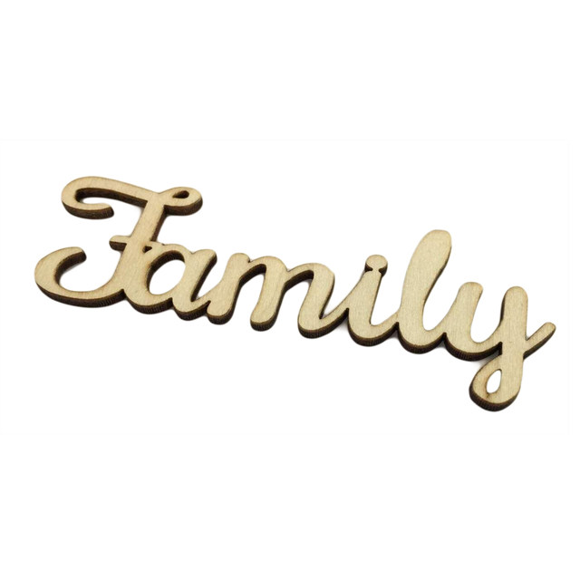 24pcs 100x40mm Wooden Family Word Letters Alphabet Script For Tree Crafts Home Wedding DIY Decorations