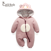 MUDOQINWEI Thick Warm Baby Rompers Winter Clothes Newborn Baby Boy Girl Romper Jumpsuit Infant Hooded Kid