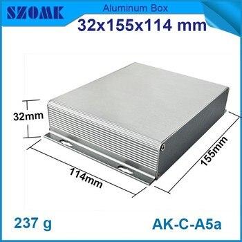 10 pcs/llot aluminum amplifier case enclosure 32(H)x155(W)x114(L) mm szomk control enclosure aluminium project box