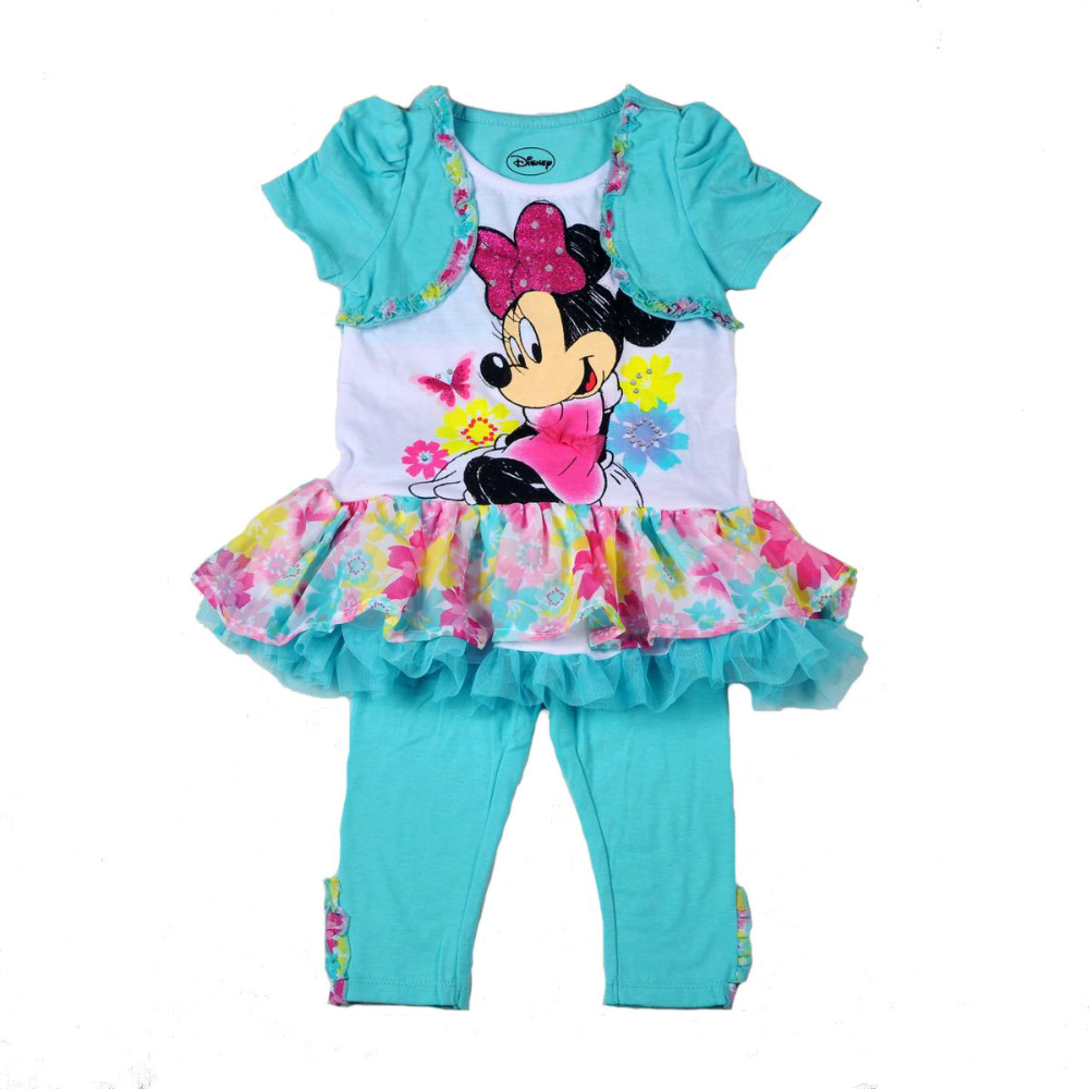 retail Baby Girl's Minnie Mouse Dress Legging Set minnie dress pants two pieces sets Clothing - ROSE KIDS store