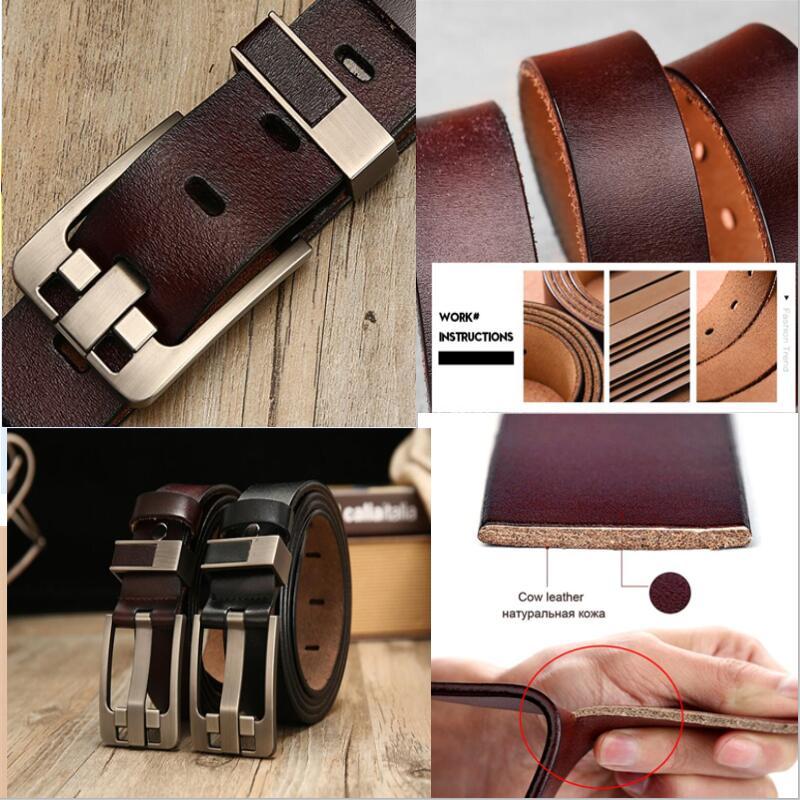 male leather belt men male genuine leather strap luxury pin buckle belts for men belt Cummerbunds ceinture homme High Quality