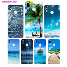 Silicone Case ocean and river for Huawei P Smart 2019 Plus P30 P20 P10 P9 P8 Lite Mate 20 10 Pro Lite Nova 3i Cover купить недорого в Москве
