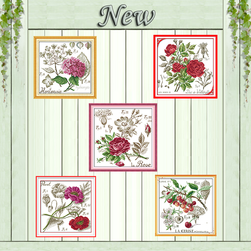 Baosity Stamped Cross Stitch Kit Embroidery Crafts Pre-Printed Pattern 11 Count DIY Gift for Adults Beginners
