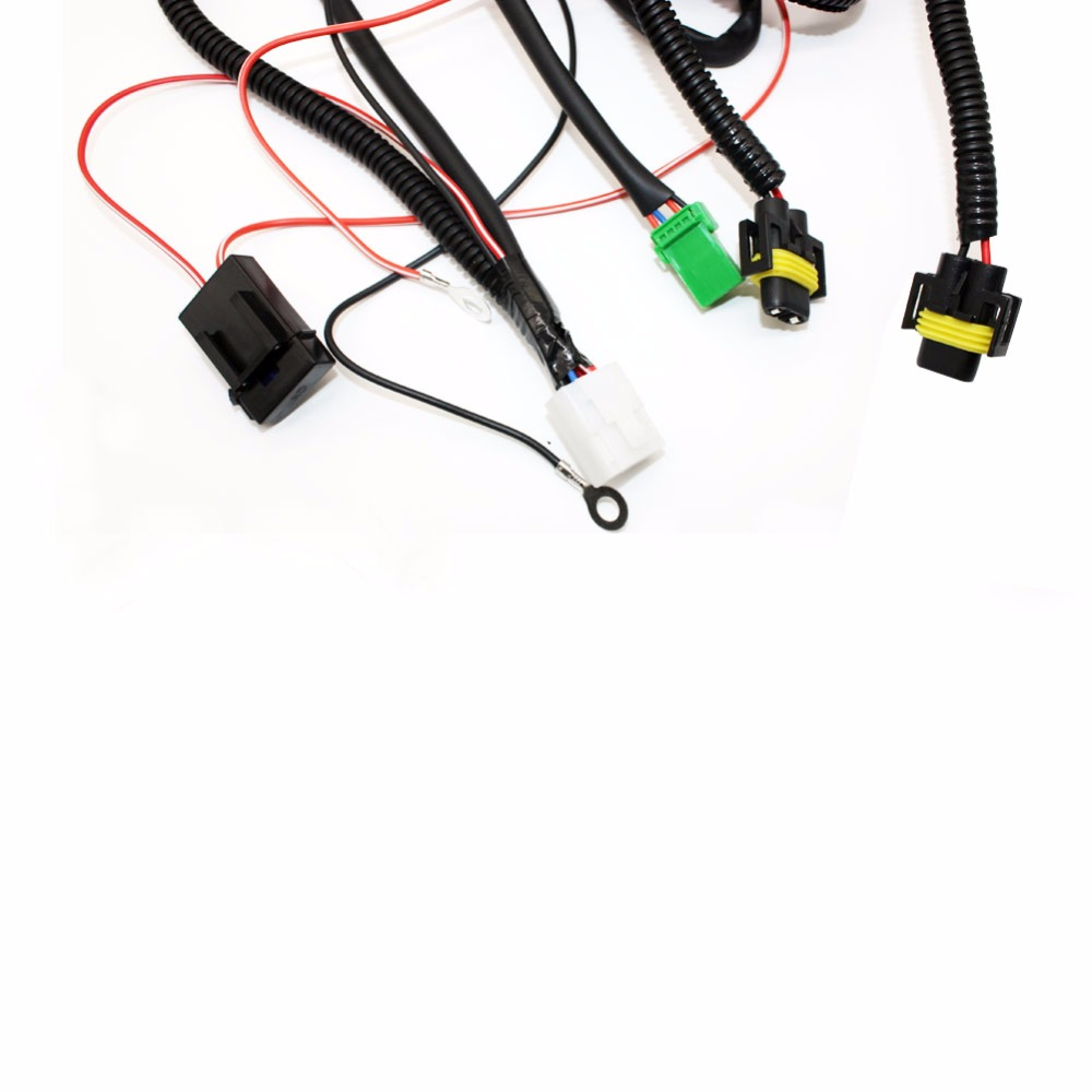 hight resolution of h11 wiring harness sockets wire connector switch 2 fog lights drl front bumper led lamp for suzuki grand vitara 2 jt 2005 15 in car light assembly from