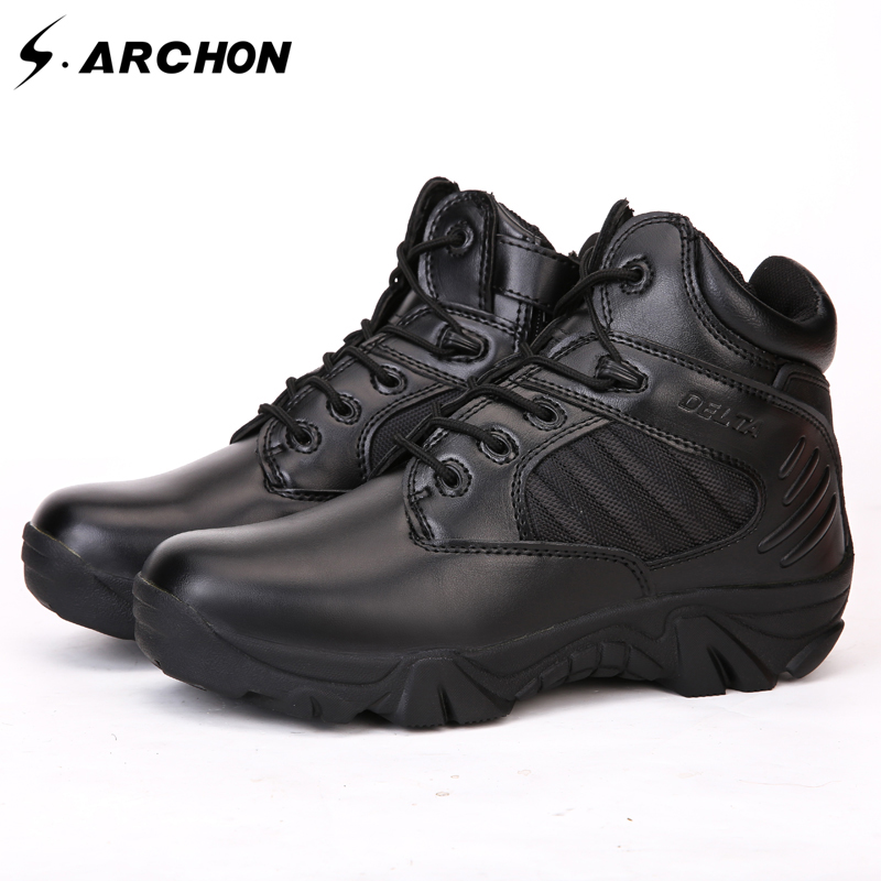 sarchon Outdoor Sports Tactical Camping Shoes Men's Boots For Climbing Breathable Lightweight Mountain Boots Hiking Shoes naturalhome men water resistant boots sports hiking shoes outdoor athletic shoes mountain boots for hunting travel shoes boot